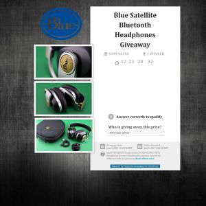 Win a pair of Blue Satellite Bluetooth Headphones!
