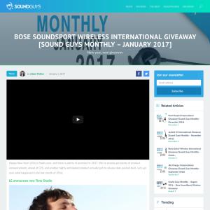 Win a pair of Bose Soundsport Wireless earbud headphones!