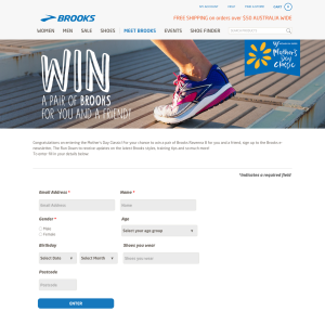 Win a pair of Brooks for you & a friend!