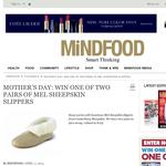 Win a pair of Mel sheepskin slippers