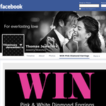 Win a pair of pink & white diamond earrings valued at $1,000!