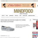Win a Pair of Toms Silver Glitters