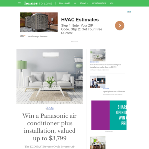 Win a Panasonic air conditioner + installation, valued at up to $3,799!