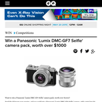 Win a Panasonic 'Lumix DMC-GF7' selfie camera pack, worth over $1,000!