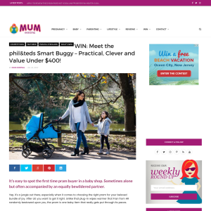 WIN a phil & teds Smart Buggy pram