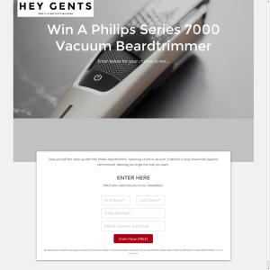 Win a Philips Series 7000 Vacuum Beardtrimmer!