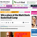 Win a place at the Mark Davis Basketball Camp