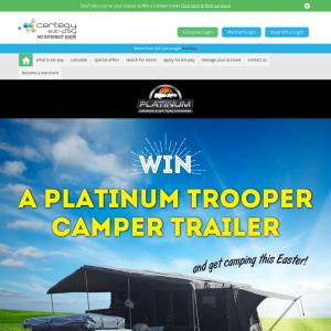 Win a Platinum Trooper Camper Trailer