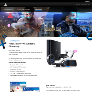 Win a PlayStation 4 Pro VR Bundle