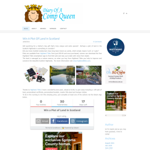 Comp Queen Win A Plot Of Land In Scotland