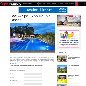 Win a Pool & Spa Expo Double Passes