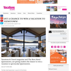 Win a Queenstown Holiday Package for 2