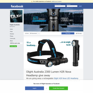 Win a rechargeable Olight H2R Nova LED Headlamp worth $119.95.
