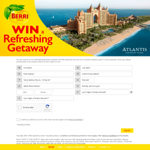 Win a refreshing getaway to 'Atlantis the Palm', Dubai! (Purchase Required)