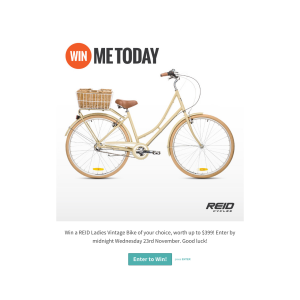 Win a Reid ladies vintage bike of your choice, worth up to $399!