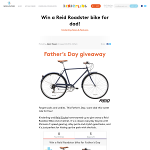 Win a Reid Roadster bike!