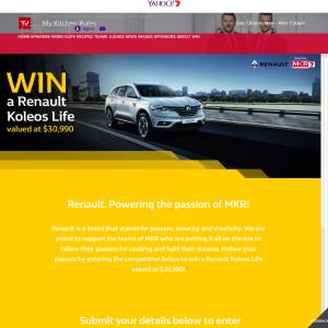 Win a Renault Koleos Life