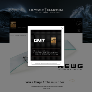 Win a 'Reuge Arche' Music Box!