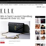 Win a Saint Laurent handbag valued at over $1,700!