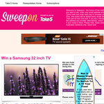 Win a Samsung 32 inch TV
