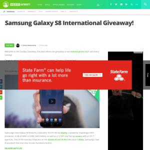 Win a Samsung Galaxy S8!