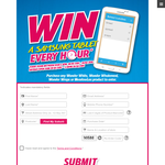 Win a Samsung tablet every hour!