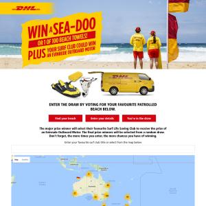 Win a Sea-Doo or 1 of 100 beach towels!