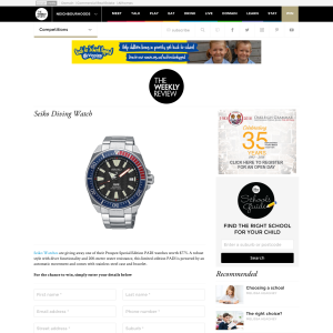 Win a Seiko Diving Watch
