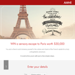 Win a sensory escape to Paris worth $30,000!
