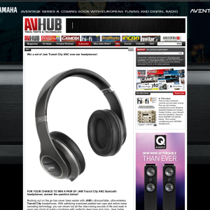 Win a set of Jam Transit City ANC over-ear headphones