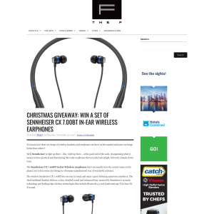 Win a set of Sennheiser CX 7.00BT In-Ear Wireless earphones