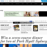 Win a seven-course dinner for 2 at Park Hyatt, Sydney!