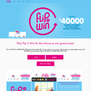 Win a share of 24 Visa Cards valued at up to $40,000