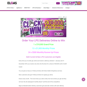 Win a share of $34,000 worth of eGift Cards