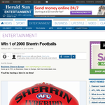 Win a Sherrin Football