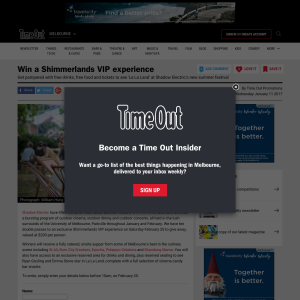 Win a Shimmerlands VIP experience! (VIC Residents ONLY)