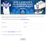 Win a signed jersey & a Captain's Club family pass!