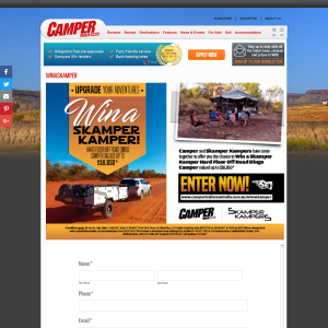 Win a Skamper Kampers Hard Floor Off Road Dingo Camper Trailer