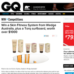 Win a Skin Fitness System from Wedge Australia, plus a Torq surfboard, worth over $1,000!