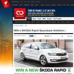 Win a Skoda Rapid Spaceback Ambition!