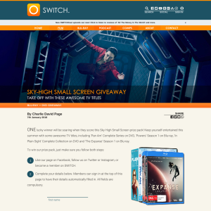 Win a Sky-high Small Screen prize pack
