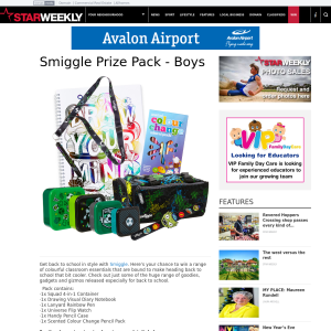 Win a Smiggle boys pack