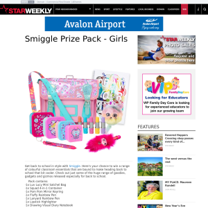 Win a Smiggle girls pack