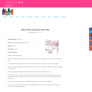 Win A Smile With Smiggle Jewellery Prize Pack