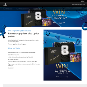 Win a Sony Playstation 4 Pro signed by Patty Mills!