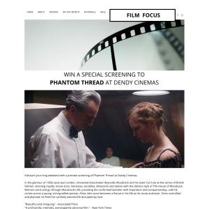 Win a special screening to Phantom Thread at Dendy Cinemas