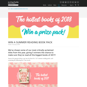 Win A Summer Reading Book Pack