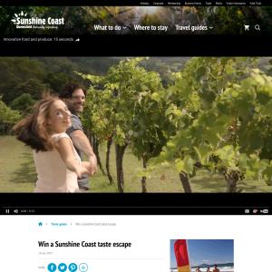 Win a Sunshine Coast taste escape (no travel)