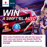 Win a Suzuki Swift GL!