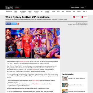 Win a Sydney Festival VIP experience